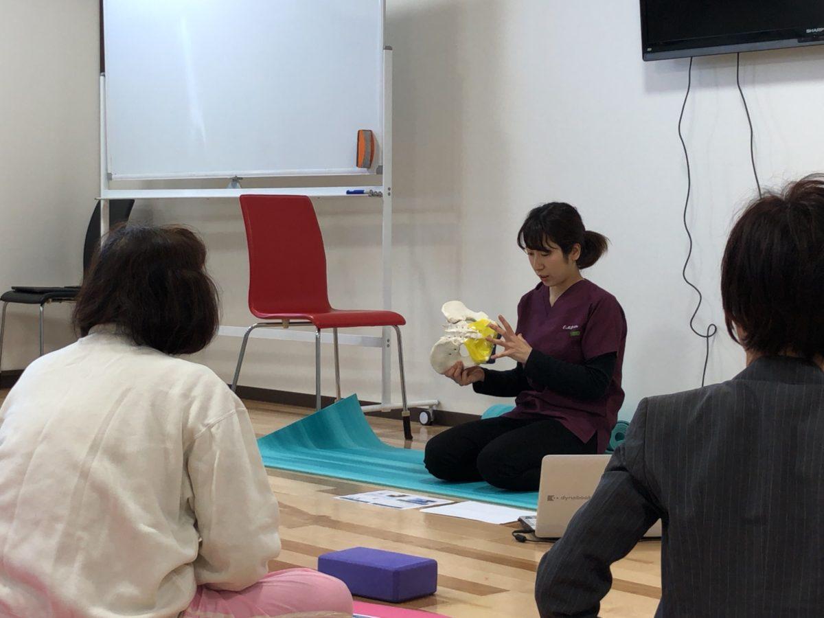 【study & yoga】理学療法士と学ぶ骨盤底筋トレーニングヨガの様子 2019.04.20