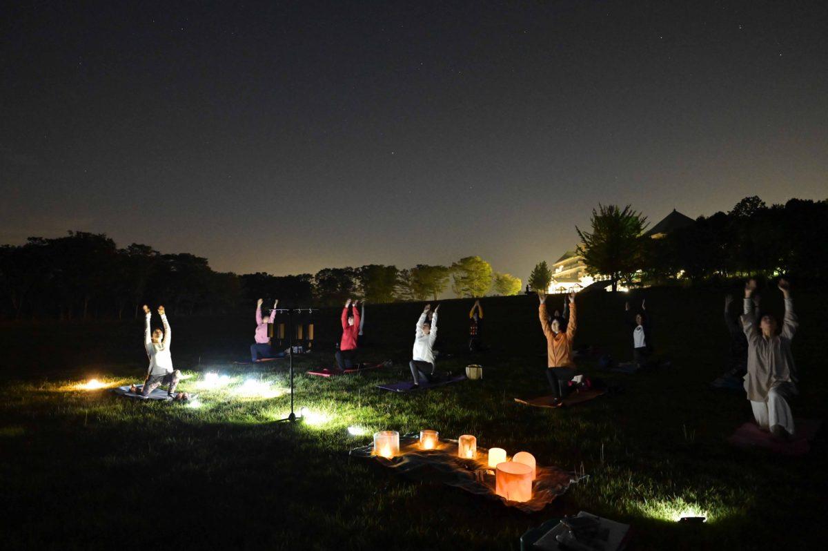 星空のアーシングヨガx音瞑想 参加者募集中