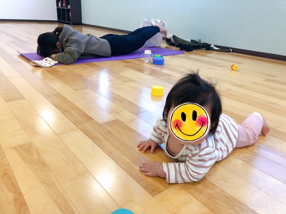 赤ちゃんと一緒に参加できる 【ママヨガ】2月の様子